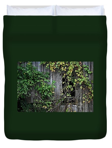 Barn Window Vine Duvet Cover