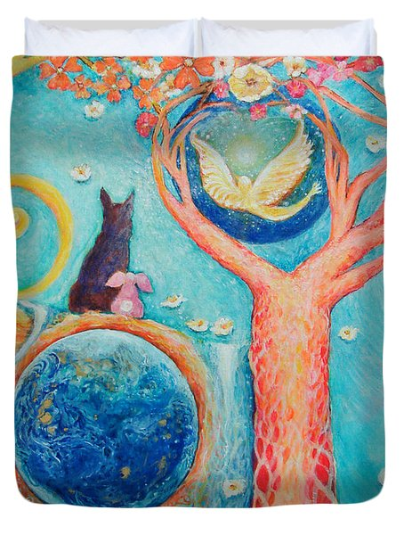 Baron's Painting Duvet Cover by Ashleigh Dyan Bayer