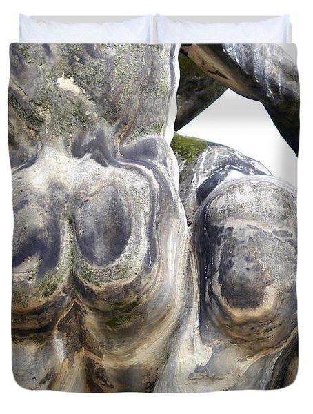 Baroque Statue - Detail - Backside Duvet Cover by Michal Boubin