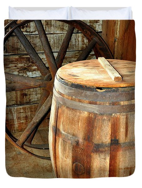 Barrel And Wheel Duvet Cover by Marty Koch