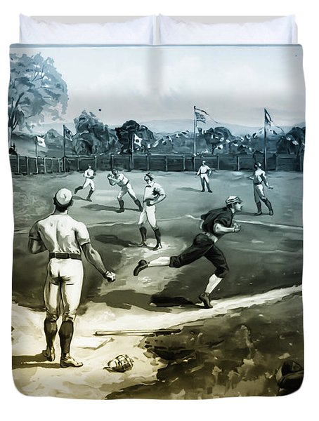 Baseball Duvet Cover by Bill Cannon
