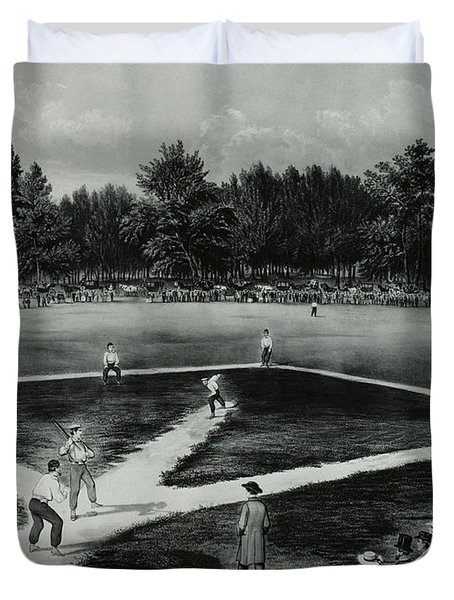 Baseball In 1846 Duvet Cover by Omikron
