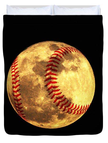 Baseball Moon Duvet Cover by Bill Cannon