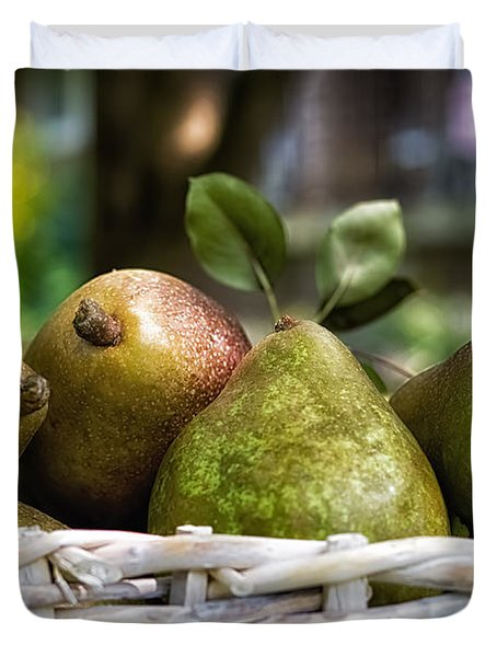 Basket Of Pears Duvet Cover