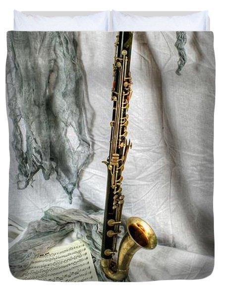 Bass Clarinet Duvet Cover by Dan Stone