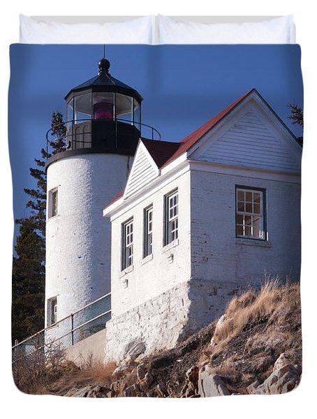 Bass Harbor Lighthouse Acadia National Park Duvet Cover by Glenn Gordon