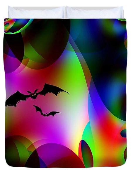 Bat Cave Duvet Cover by Maria Urso