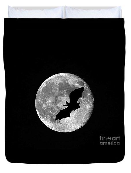 Bat Moon Duvet Cover by Al Powell Photography USA
