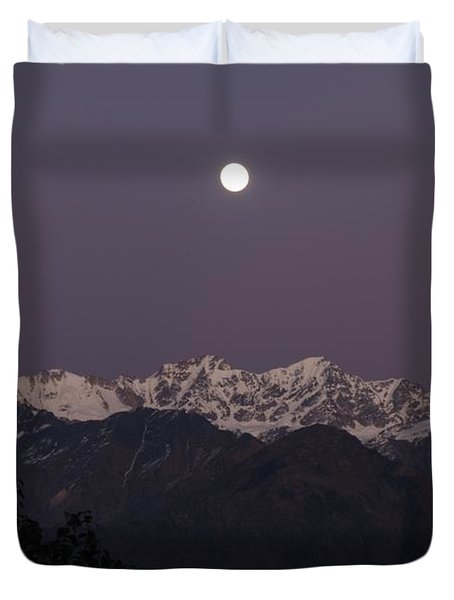Duvet Cover featuring the photograph Bathed In Moonlight by Fotosas Photography
