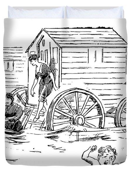 Bathing Machine, 1888 Duvet Cover