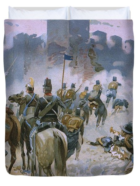 Battle Of Solferino And San Martino Duvet Cover by Italian School