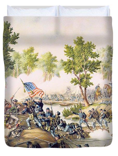 Battle Of Spottsylvania May 1864 Duvet Cover by American School