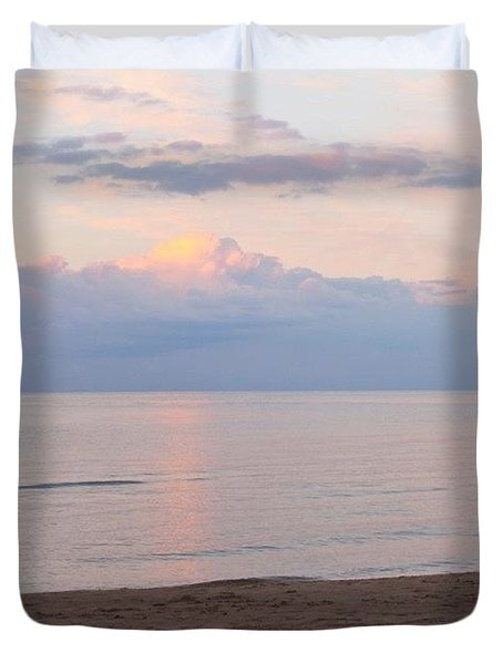Beach At Dusk  Duvet Cover by Justin Connor
