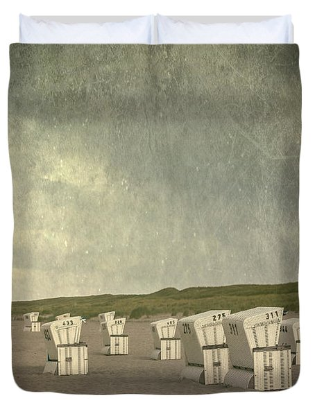 Beach Chairs Duvet Cover by Joana Kruse