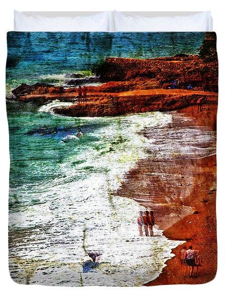 Beach Fantasy Duvet Cover by Madeline Ellis