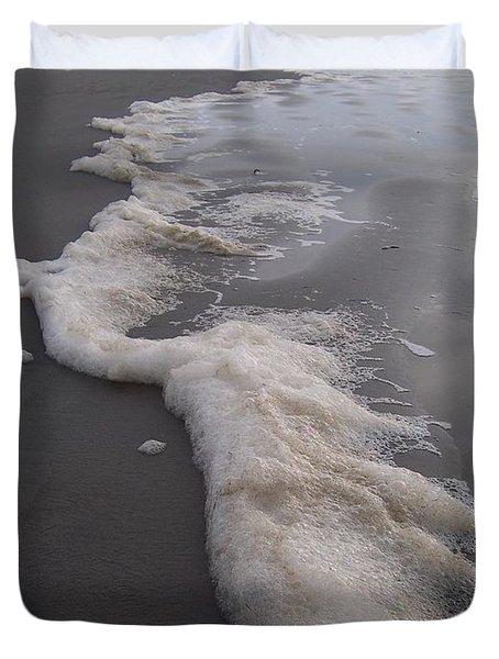Beach Foam Art Duvet Cover by Peter Mooyman