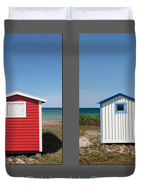 Duvet Cover featuring the photograph Beach Houses by Stefan Nielsen