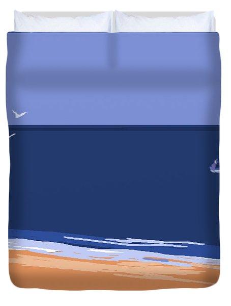 Beach Duvet Cover by Nedunseralathan R