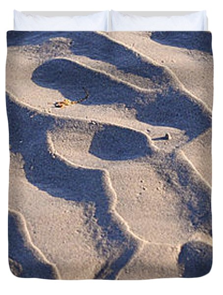Beach Sand At Sunset Duvet Cover by Phill Petrovic
