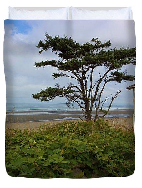 Beachside Gazebo Duvet Cover by Heidi Smith