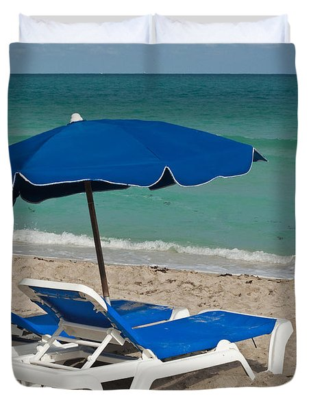 Beachtime Duvet Cover by Barbara McMahon