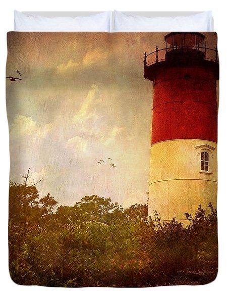 Beacon Of Hope Duvet Cover by Lianne Schneider