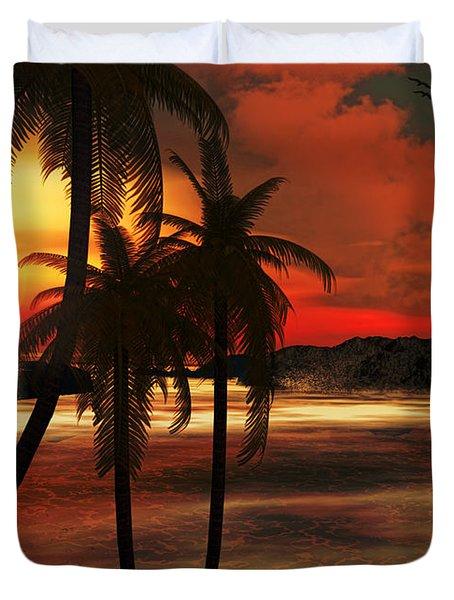 Beacon Of Light Duvet Cover by Lourry Legarde