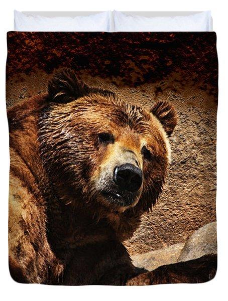 Bear Artistic Duvet Cover by Karol Livote