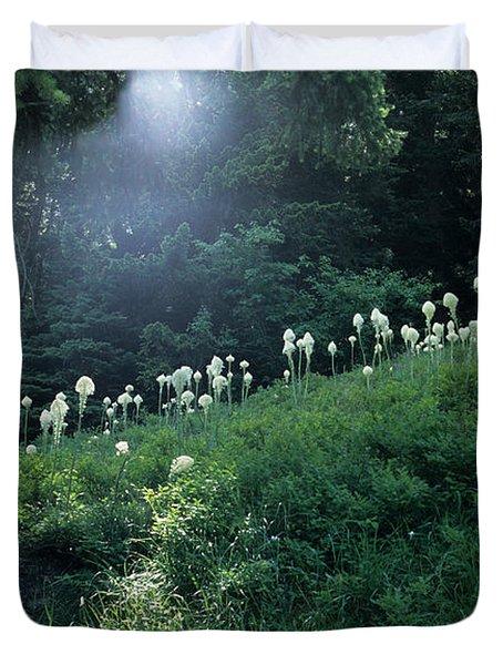 Bear-grass Ridge Duvet Cover by Sharon Elliott