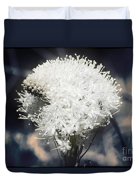 Duvet Cover featuring the photograph Bear Grass Splendor by Janie Johnson