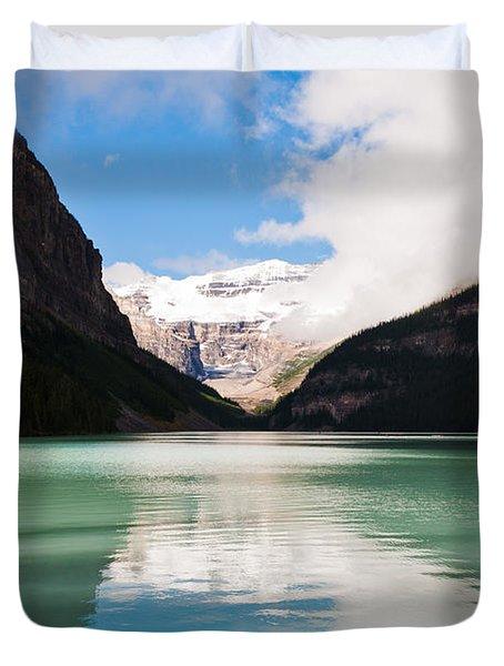 Beautiful Lake Louise Duvet Cover by Cheryl Baxter