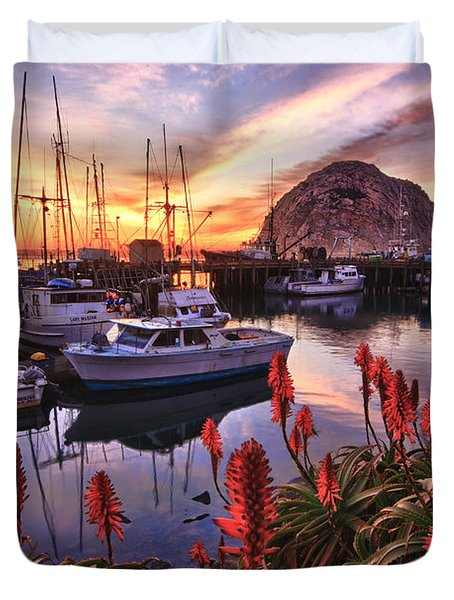Beautiful Morro Bay Duvet Cover