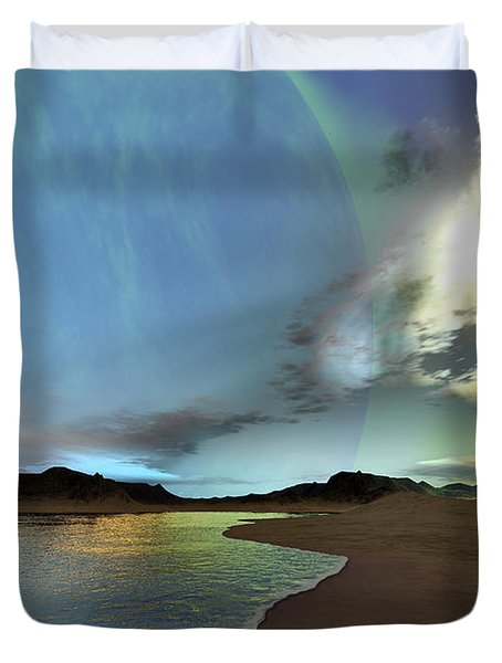 Beautiful Skies Shine Down On This Duvet Cover by Corey Ford