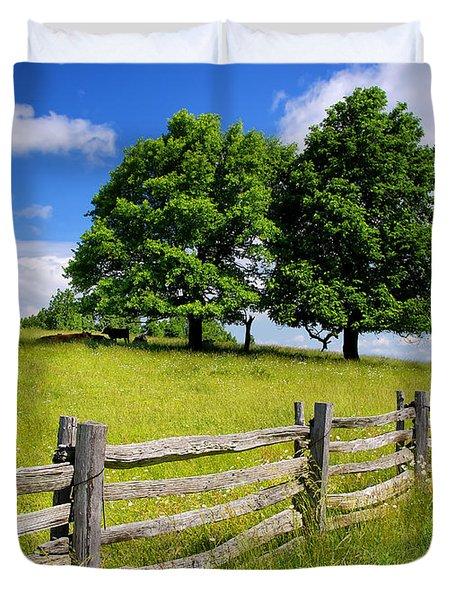 Beautiful Virginia Pasture Duvet Cover