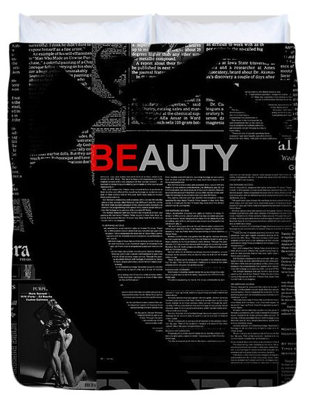 Beauty Duvet Cover by Naxart Studio