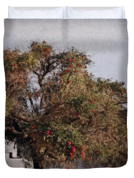 Beauty On The Path Duvet Cover