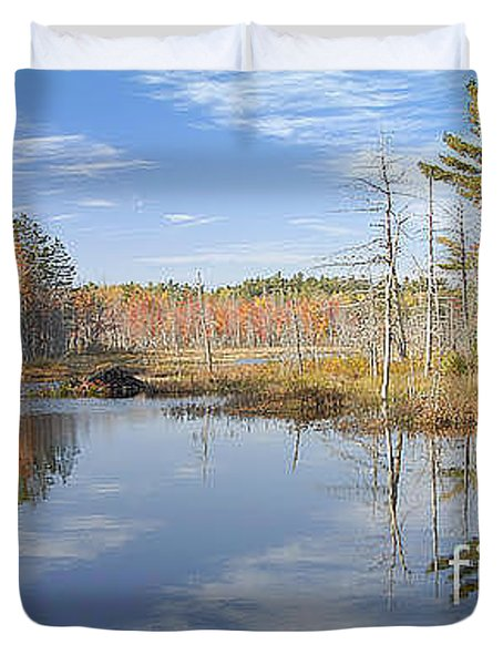 Duvet Cover featuring the photograph Beaver Pond by Alana Ranney