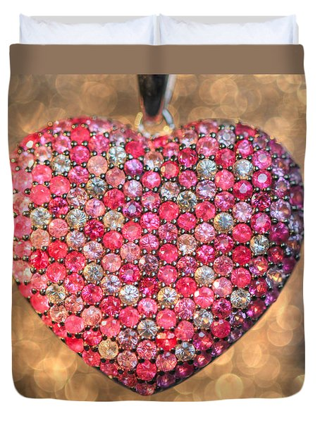Bedazzle My Heart Duvet Cover by Shelley Neff