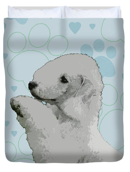 Bedlington Terrier Duvet Cover by One Rude Dawg Orcutt