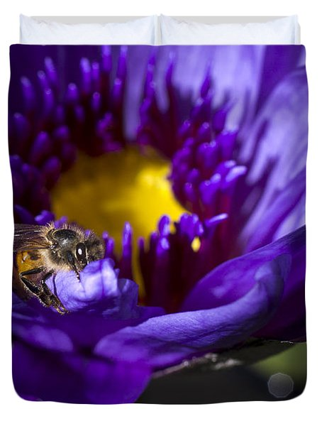 Bee Hug Duvet Cover by Priya Ghose