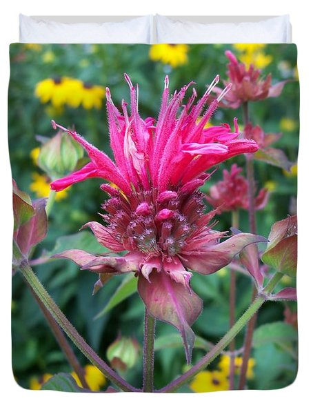 Beebalm Flower Duvet Cover