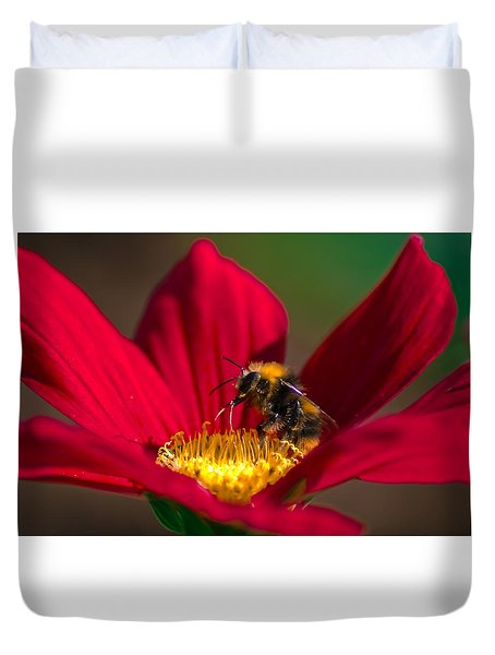 Duvet Cover featuring the photograph Beebot by Stwayne Keubrick