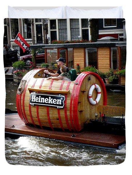 Beer Boat Duvet Cover