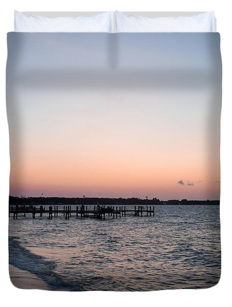 Before Sunrise At Piney Point Maryland Duvet Cover
