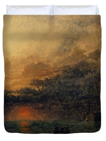 Before The Storm Duvet Cover by Henry Dawson