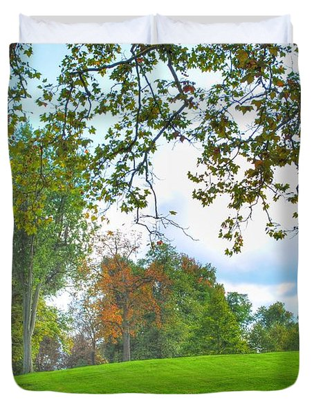 Duvet Cover featuring the photograph Beginning Of Fall by Michael Frank Jr