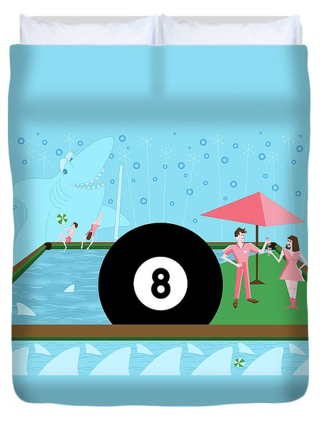Behind The Eight Ball Duvet Cover