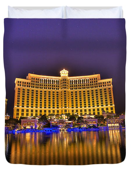 Belagio Las Vegas Duvet Cover by Nicholas  Grunas