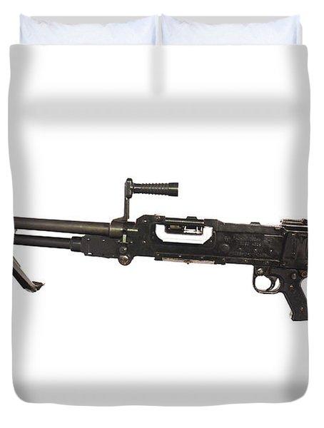 Belgian Fn Mag 7.62mm General Purpose Duvet Cover by Andrew Chittock