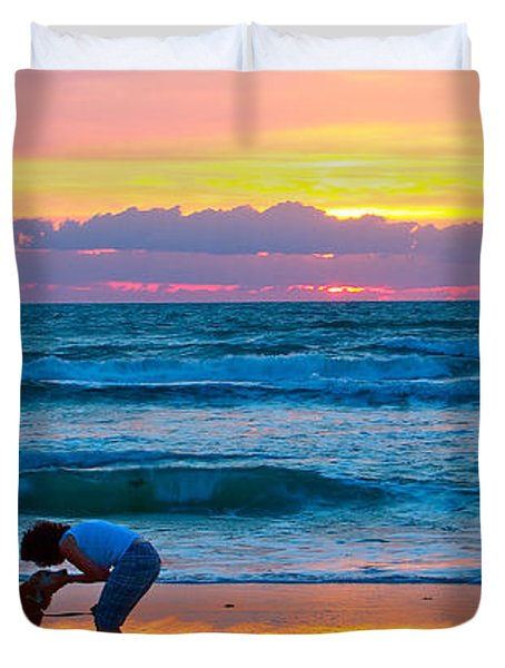 Duvet Cover featuring the photograph Bella At Sunrise by Alice Gipson